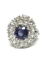 Bague en or blanc 18 carats , diamants et Tanzanite , prix exceptionnel