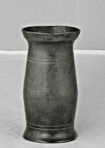 Half Pint Irish Pewter Baluster Measure, c1860