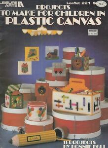Leisure Arts Projects to Make for Children in Plastic Canvas - 1982
