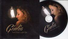 GIULIA Turn Your Light On 2015 UK 2-track promo CD