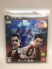USED  PS3 Ryu ga Gotoku  zero 0 YAKUZA SEGA GAMES PlayStation 3