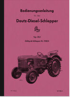 Deutz Dieselschlepper D25 D 25.2 Bedienungsanleitung Betriebsanleitung Handbuch