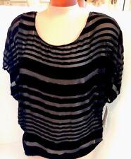 Joie Blouse Nwt$248 Black Velvet Silk Panels Cami XS