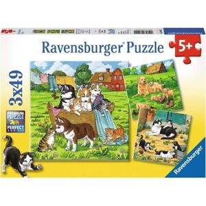 Ravensburger Cats and Dogs 3 x 49 pc Jigsaw Puzzles 5+