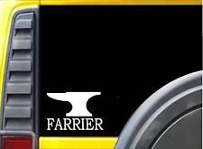 Farrier Anvil K493 6 inch Sticker horse shoe decal
