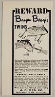 1958 Print Ad Bayou Boogie Twins Fishing Lures A.D. Mfg St Louis,Missouri