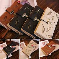 Women Lady Long Card Holder Phone Bag Case Purse Handbag Clutch Leather Wallet