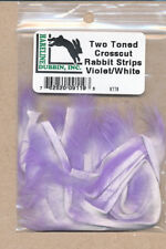 Rabbit cross cuts - Two-Tone - violet / white    XTT9