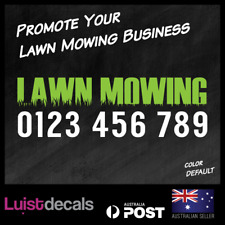 Custom Lawn Mowing Phone Number Name Car/Van/Window Decal Sticker 590mm Business