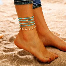 Shell Beads Anklet Adjustable Bracelets Foot Jewelry 5Pcs/Set Handmade Elegant