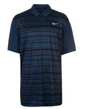 Nike Essentia Graphix Herren Golf Polo Shirt Blau Schwarz Größe S Neu