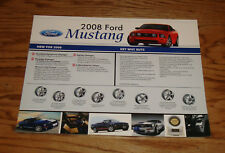 Original 2008 Ford Mustang Sales Sheet Brochure 08 GT V6 Shelby GT500