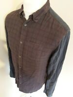 Mens All Saints Flannel Shirt Brushed Red Check Plaid Tartan Small 40 chest