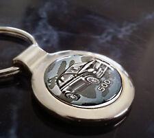 Fiat 500 Schlüsselanhänger Fiat 500 mit 3D Oberflächenbeschichtung u.Textgravur