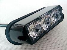 3 LED WORK LIGHT BAR BEACON VEHICLE GRILL STROBE LIGHT EMERGENCY WARNING AMBER