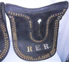 Antique Vintage Team Horses Hames Covers - Parade Funeral - Brass Trim Initials