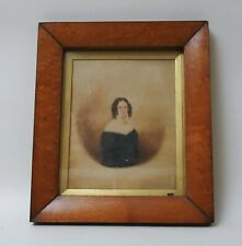More details for fine antique early 19th century watercolour portrait of a young lady