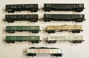 Good Lot of 9 HO Scale Gondola Cars / All Parts Intact