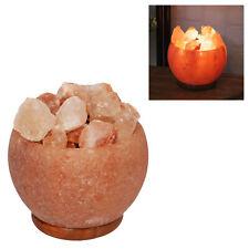 Hestia Himalayen Rock Sel Lampe Feu Effet Bol Panier - 63068