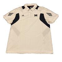Michigan Wolverines Adidas Scorch Climalite Polo Shirt 2XL Football Basketball