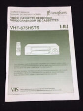 New listing Owner'S Manual Broksonic Video Cassette Recorder Vhf-675Hsts