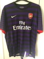 2012/2013 ARSENAL away football shirt XXL Homme RARE Violet 2XL Fly Emirates
