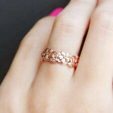 Rose Gold Floral Ring Daisy Plum Blossom Cherry Flower Anniversary Engagement