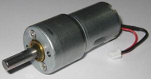 500 RPM Hobby Project 12 V DC Gearhead Motor - High Torque - 6mm D-Type Shaft