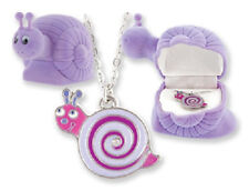 CHILD'S SNAIL NECKLACE w/ MATCHING VELOUR BOX (BN043)