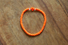 ORANGE Waxed Chotki Komboskoini Summer Bracelet Christian Orthodox Prayer Rope