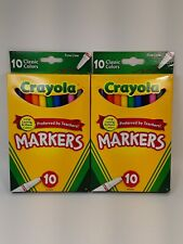 Crayola Classic Fine Line Markers Assorted Colors, 10 Count (2 Pack)