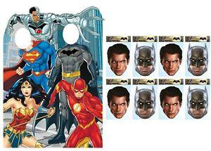 Justice League Fête Pack Avec Officiel Carton Stand En Et Masques