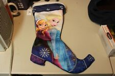 """Disney Parks Frozen Christmas Stocking Boot Anna and Elsa Large 19"""" Long NWT"""