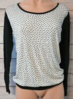 Stella Jumper Knit Size Medium 10 12 black white long sleeve sequin stud