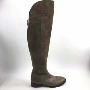 Tory Burch Simone Over the Knee Suede Boots Sz 7 M Brown