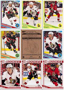 2013-14 OPC O-Pee-Chee Ottawa Senators Complete Team Set (22)