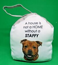 DOOR STOP STOPPER ~HOME DECOR~ DOG STAFFY STAFFORDSHIRE