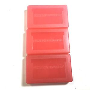 3 Pack Red Cases for Nintendo Game Boy Advance Cartridges
