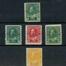 Admiral issue 1st & 2nd row MH, 3rd row MNH coils Cat $118 Canada mint