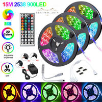 LED Strip Lights 15M 10M RGB Dimmable TV Back Light with Remote Control + DC 12V