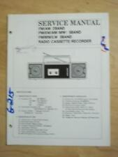 Samsung Service Manual for the STQ-25 Radio Cassette Recorder Boombox   mp
