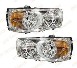 QSC Right & Left Side Headlights Pair for Peterbilt 220 Kenworth K270 K370