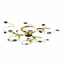 "Simple GOLD FRAME CONTEMPORARY Lighting Fixture for Living/Bed Room (D32"" x H5"")"