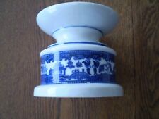 """LARGE 4.5"""" TALL x 5"""" WIDE MADE-IN-JAPAN BLUE WILLOW CANDLESTICK"""
