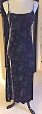 GORGEOUS VINTAGE RALPH LAUREN VELVET PAISLEY DRESS ~ BLACK ~ SIZE 4