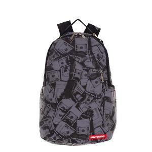 SPRAYGROUND Backpack Large Reflective Dollar Print Laptop Pocket Padded Zipped