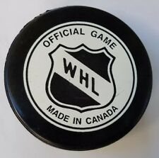TRI CITY AMERICANS VINTAGE WHL SHIELD OFFICIAL INGLASCO CANADA HOCKEY GAME PUCK