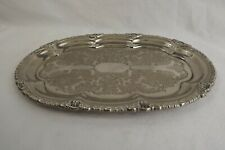 silver plated card tray