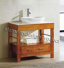 """36"""" Bathroom Vanity 36-inch Cabinet White Top Vessel Sink Cinnamon/Cg"""