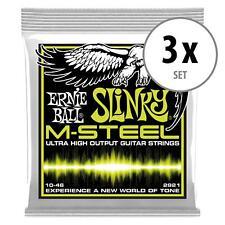 3x Set Ernie Ball 2921 Regular Slinky M-Steel E-Gitarre Saiten Strings Satz